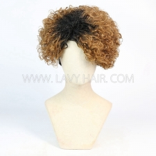 150% Density Bob Wig Wave Human Hair RF3C-124-T1B-30