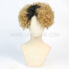 150% Density Bob Wig Wave Human Hair RF3C-124-T1B-27