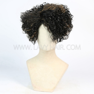 150% Density Bob Wig Wave Human Hair RF3C-124-F1B- 30