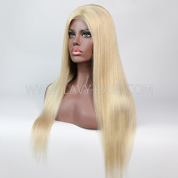 Color  P18/613 Lace Closure 4*4 With Bundles Sewing Wigs Straight Human hair