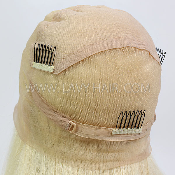 613 Blonde 130% Density Blonde Full Lace Wigs Straight Hair Human Hair