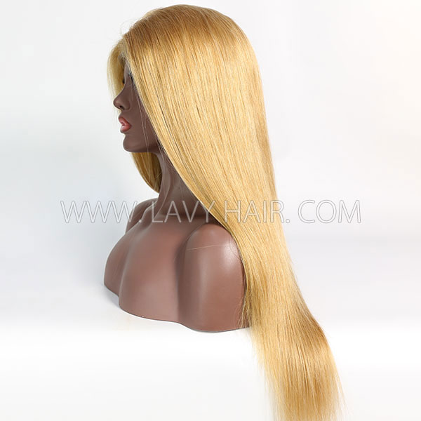 Color 27 Lace Closure 4*4 With Bundles Sewing Wigs Straight Human hair