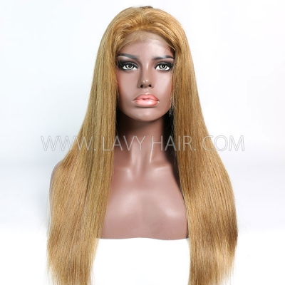 Color 6 Lace Closure 4*4 With Bundles Sewing Wigs Straight Human hair