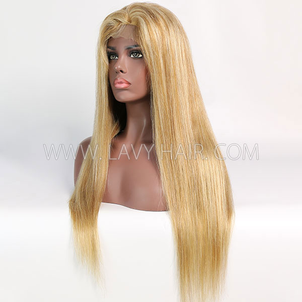 Color P8/613 Lace Closure 4*4 With Bundles Sewing Wigs Straight Human hair