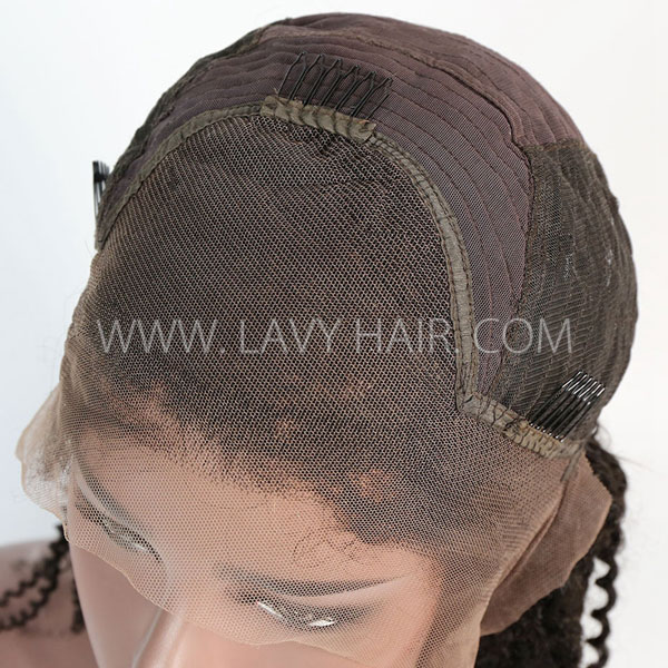 Lace Frontal Wigs 130% Density Kinky Curly Human Hair