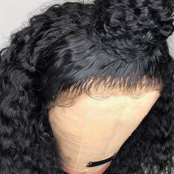 180% Density Full Lace Wigs Deep Curly Human Hair