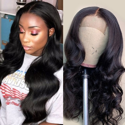 180% Density Full Lace Wigs Body Wave Human Hair