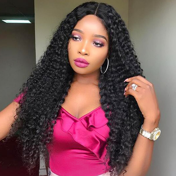 180% Density Lace Frontal Wig Deep Curly