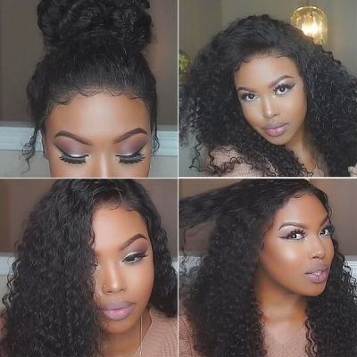 180% Density Full Lace Wigs Italian Curly Human Hair