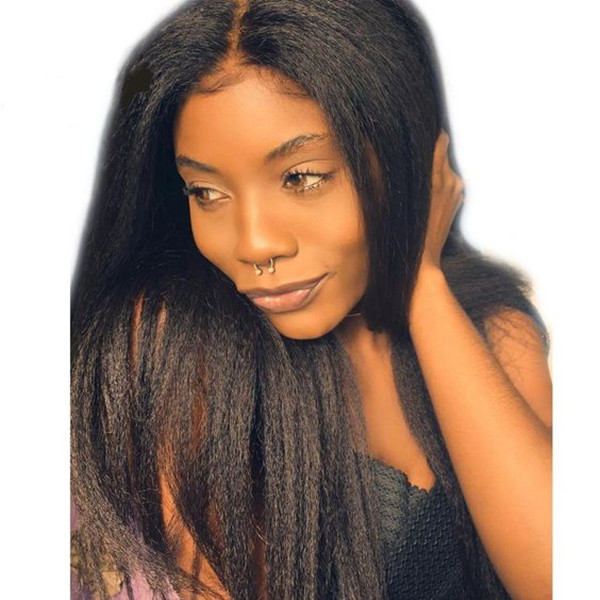 Lace Frontal Wig 130% Density Kinky Straight