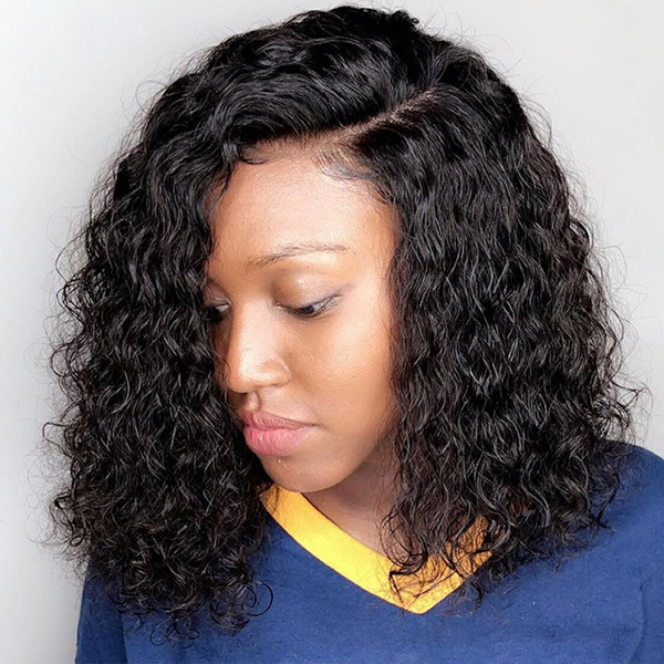 130% Density Indian Deep Wave Lace Frontal Wig