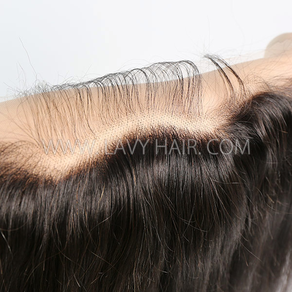 HD Lace Ear to Ear 13*4 Lace Frontal Human Hair Medium Brown Lace