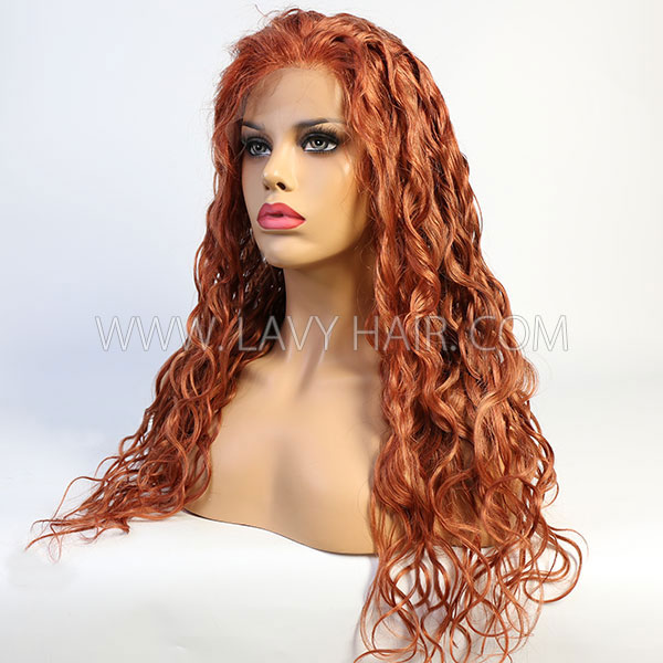 130% Density Lace Frontal Wig Natural Wave Color Hair With 5 Days Customize