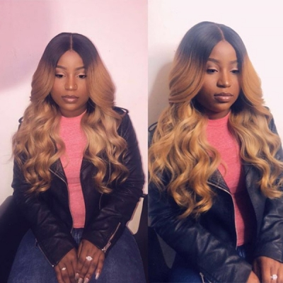 Wave Style Ombre Color Wig With 7 Working Days Customize 130lfw