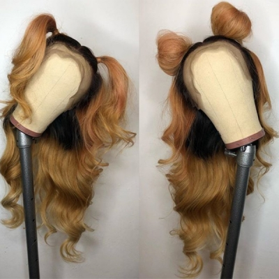 Fashion Wavy Wig Ombre Color Customize 7 Working Days Only 13*6-130lfw-03A8