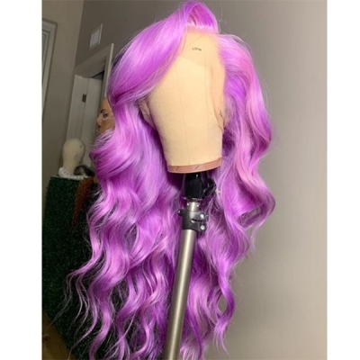 Wave Human Hair Orchid Purple Color Wig 7 Business Days Waiting 613lfw-38