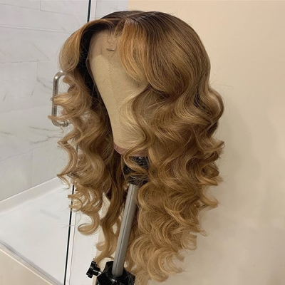 Trendy Wavy Lace Wig Brown Beige Color Waiting 7 Workdays 613lfw-31