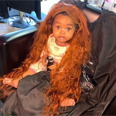 Ginger Orange Color Natural Wave Wig With 7 Workdays Customize 613lfw-30