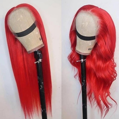Customize Only 7 Days Rose Red Color Straight Hair Wig 613lfw-53