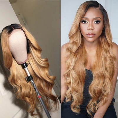 7 Days Ready For Wave Hair Ombre Light Brown Color like Pics Wig CW-59