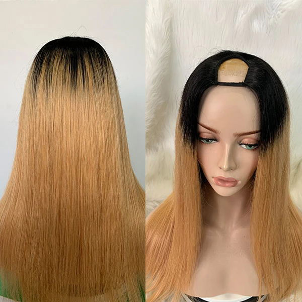 7 Days Waiting U Part Wig Straight Hair 1B/Light Brown Color upw-72