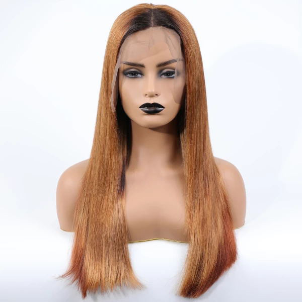 1B/130 Color Straight Human Hair Wig Customize Only 7 Working Days 13*6-130lfw-69