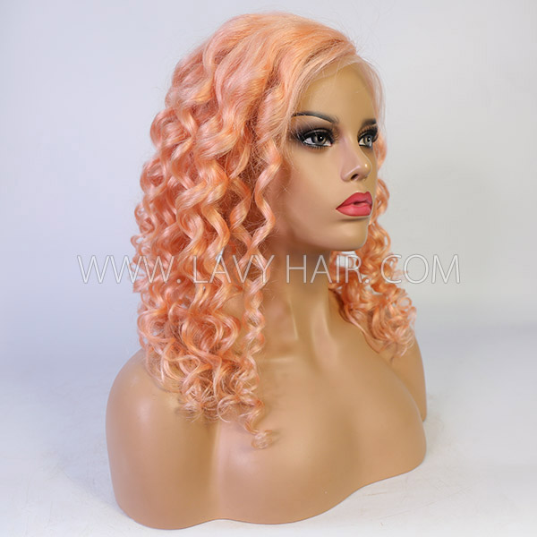Orange Color 7 Days Ready Wave Hair Wig 613lfw-73A1