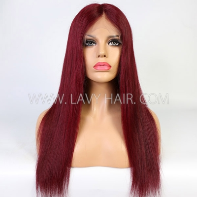 Black Girl Cute Wig Ruby Red Color 7 Workdays Waiting 180lfw-22A14