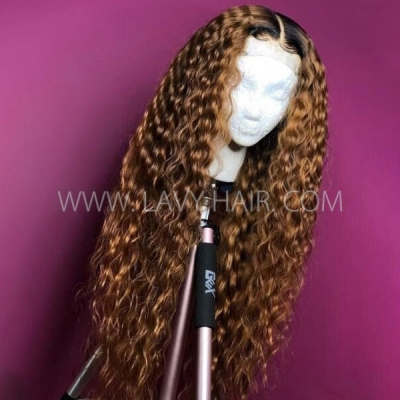 180% Density 1B/30 Ombre Color Loose Deep Wave Human Hair 13*6 Lace Frontal Wigs