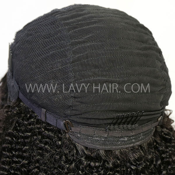 130% & 300% Density U-part Lace Frontal Wig Kinky Curly Human Hair
