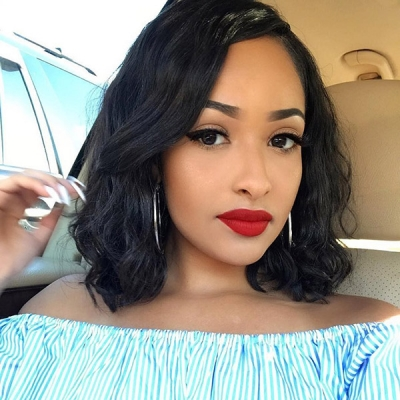 Lace Frontal Bob Wigs 180% density  Human Wave Hair FWS01