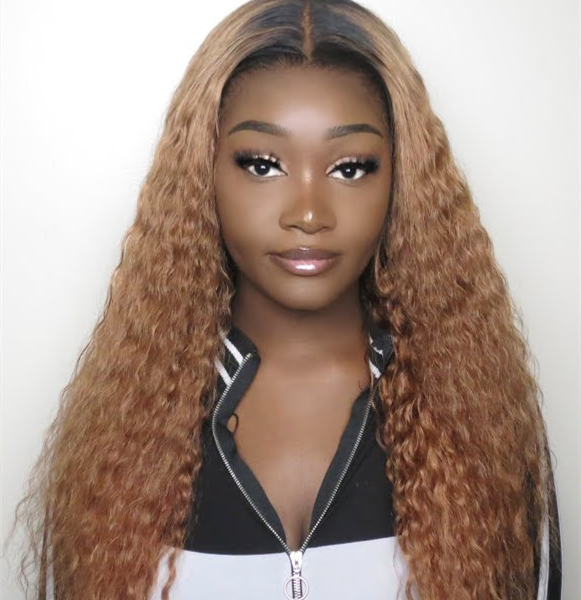 Burmese 1B/30 Ombre Color  Human Hair 13*6 Lace Frontal Wigs