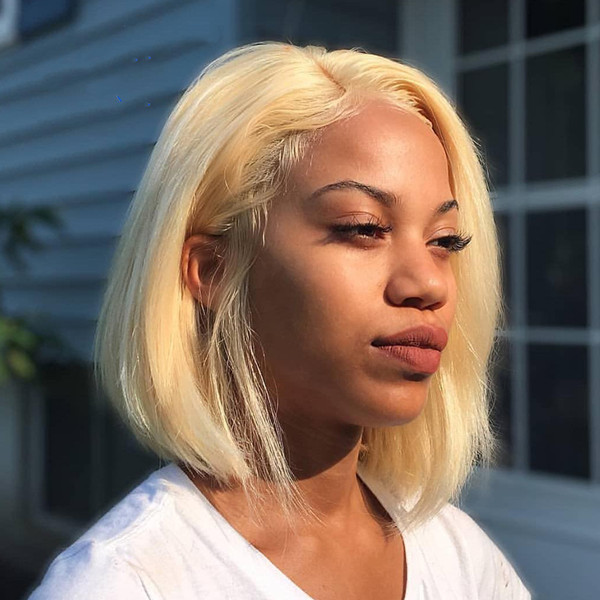 #613 Color Lace Frontal Bob Wig Straight Hair