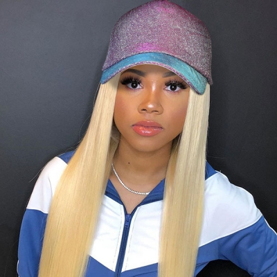 Different Kinds of Baseball Hat With 613 Blonde Color Human Virgin Hair