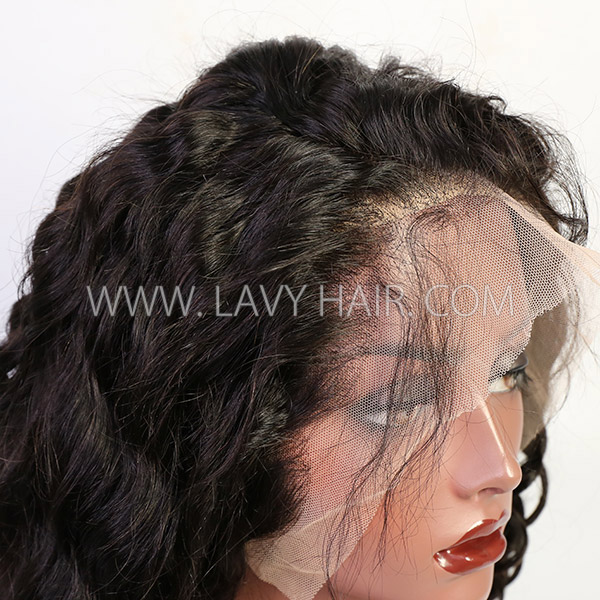 180% Density Sewing Wigs Different Hair Style Pre plucked Human Virgin Hair With Elastic Band HMW-LW
