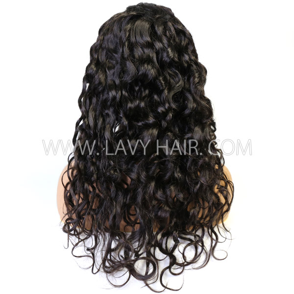 Lace Frontal Wigs 180% Density Natural Wave Human Hair