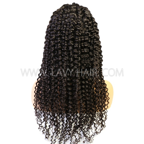130% Density Full Lace Wigs Deep Curly Human Hair