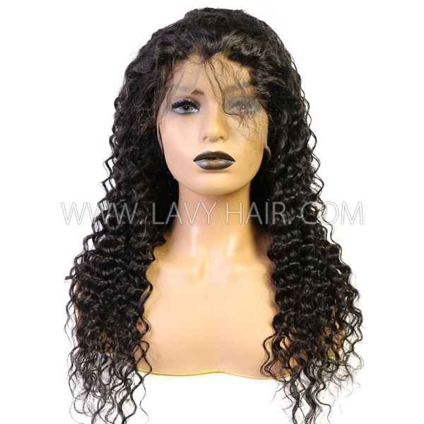 130% Density Full Lace Wigs Deep wave Human Hair
