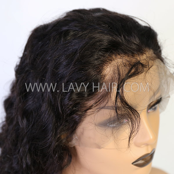 360 Lace Frontal Wigs 180% Density Loose Wave Human Hair