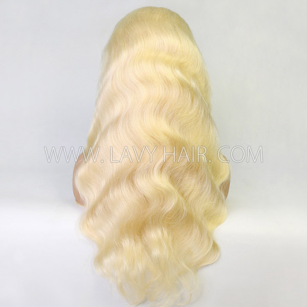 #613 Blonde 130% Density Blonde Full Lace Wigs Body Wave Human Hair