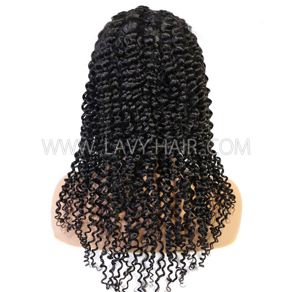 130% & 300% Density U-part Lace Frontal Wigs Deep Curly Human Hair