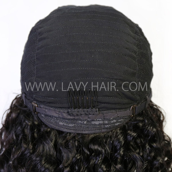 130% & 300%  Density U-part Lace Frontal Wigs Deep Wave Human Hair