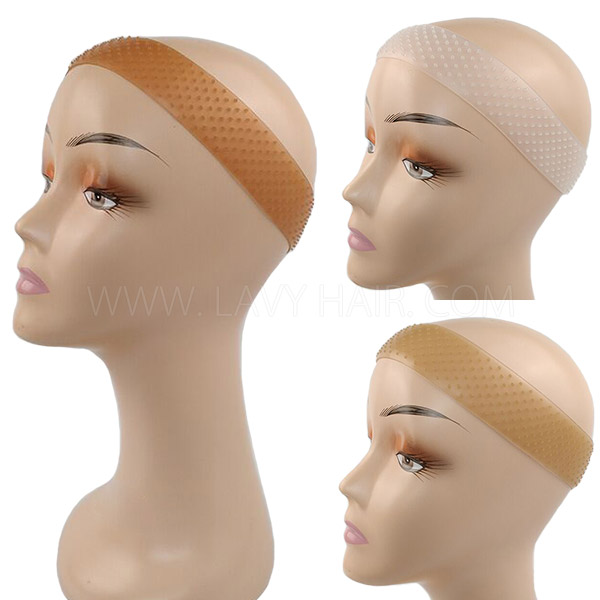 Sweatproof Seamless Silicone Wig Grip Band Adjustable Non Slip