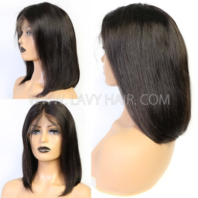 Lace Frontal Bob Wig 300% Density Straight Hair Human hair