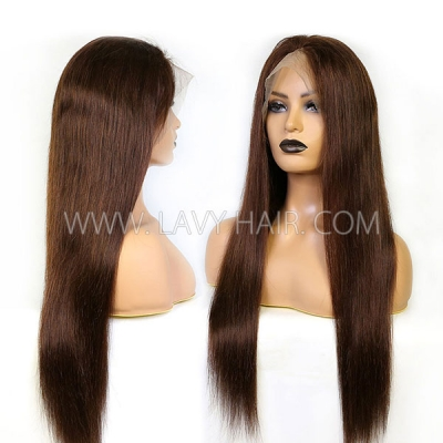 4# 130% Density Full Lace Wigs Straight Human Hair