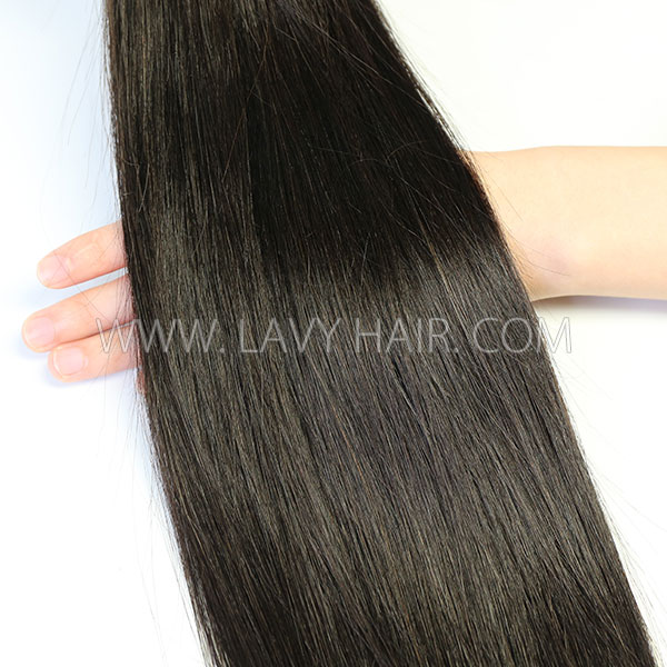 #1B Microlinks Human Virgin Hair I Tip Pre Bonded Hair Extensions 100g