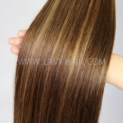 Highlight P4/27 Color Straight&Deep curly Virgin Human hair extensions Brazilian Peruvian Malaysian Indian European Cambodian Burmese Mongolian