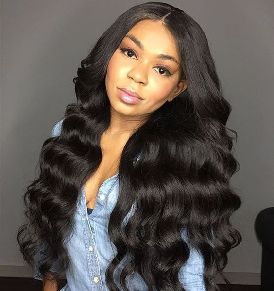 Loose Wave Hair Lace Front Wigs 300% Density