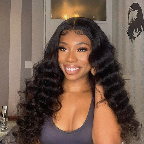Burmese Loose Wave Lace Frontal Wig 100% Human Hair