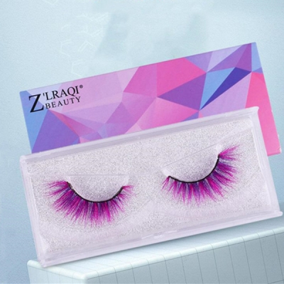 1 Pair 9D Color Mink Hair False Eyelashes (12 color choices ,leave message or by random)